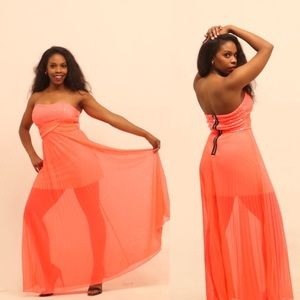 Strapless Sequin Bodice & Tulle Dress!-Le Chateau